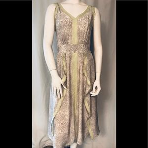 Rebecca Taylor gray snake print silk dress